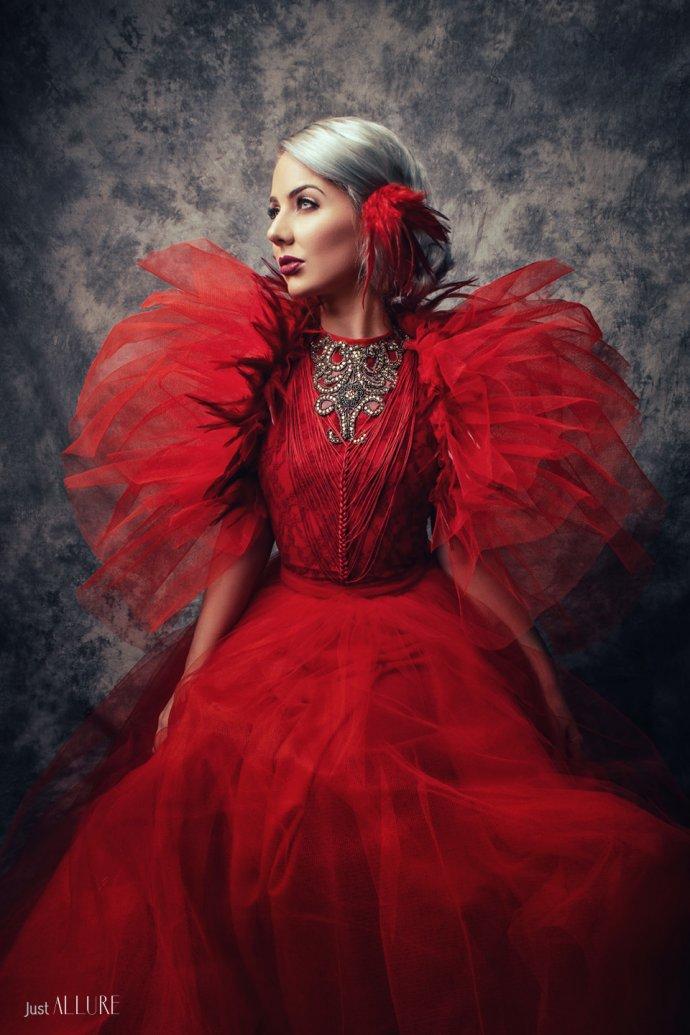 Blue Shadow Fine Art photographer and Creative Director Free Spirit Red dress princess