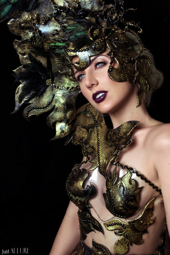 Blue Shadow Fine Art photographer and Creative Director Free Spirit Fashion Avant garde headpiece wearable
