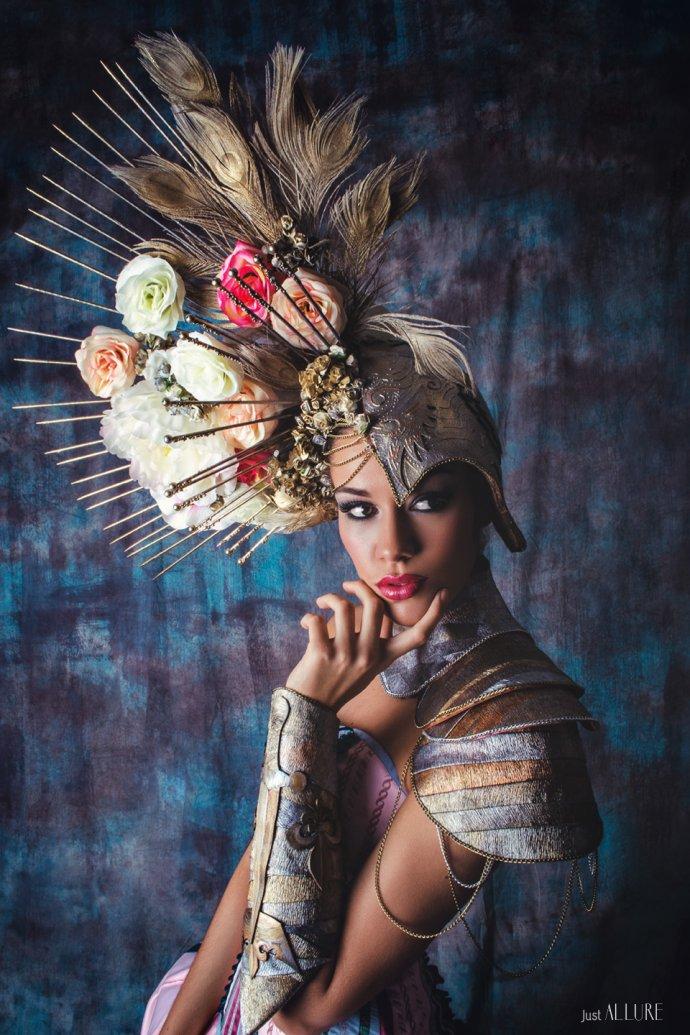 Blue Shadow Fine Art photographer and Creative Director Free Spirit Fashion photography fashion Fraise au Loup historical dress Miss france robe historique headpiece