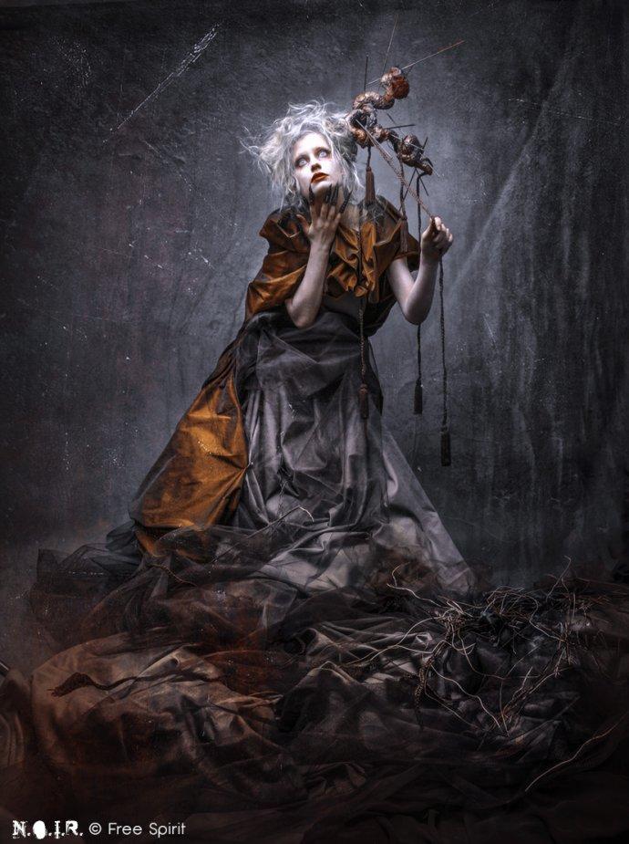 Blue Shadow Fine Art photographer and Creative Director Free Spirit Dark Beauty witch