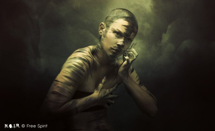 Blue Shadow Fine Art photographer and Creative Director Free Spirit Dark Beauty