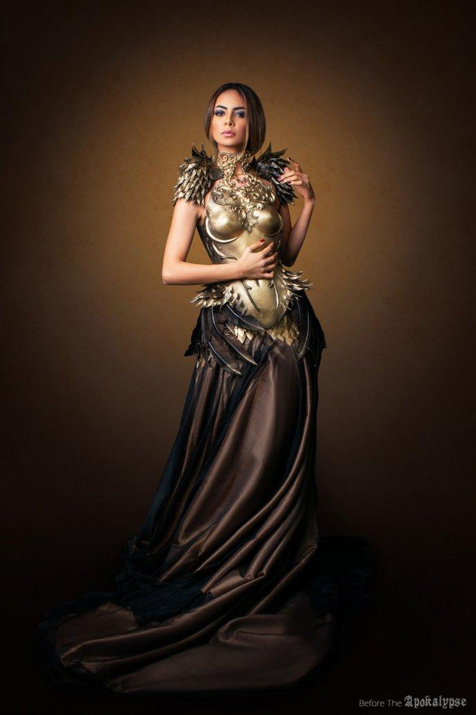 Blue Shadow Fine Art photographer and Creative Director Free Spirit Fashion photography fashion Fraise au Loup headpiece Apokalypse phoenix dress Fairytas brown dress