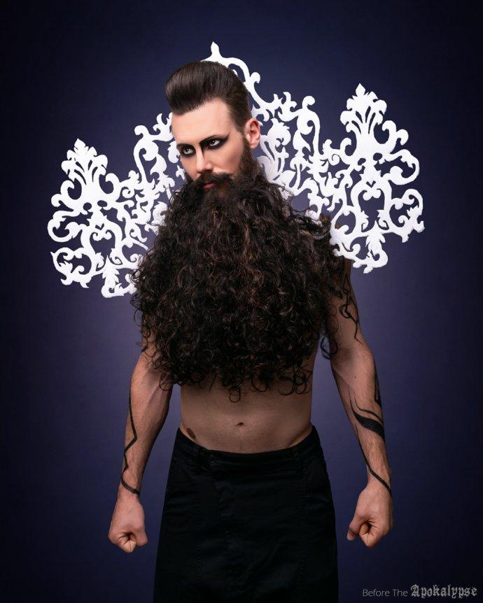 Blue Shadow Fine Art photographer and Creative Director Free Spirit Fashion photography fashion Fraise au Loup hipster beard style la barbière de Paris