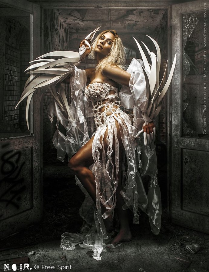 Blue Shadow Fine Art photographer and Creative Director Free Spirit Luis Royo Tribute Dirty Dark beauty
