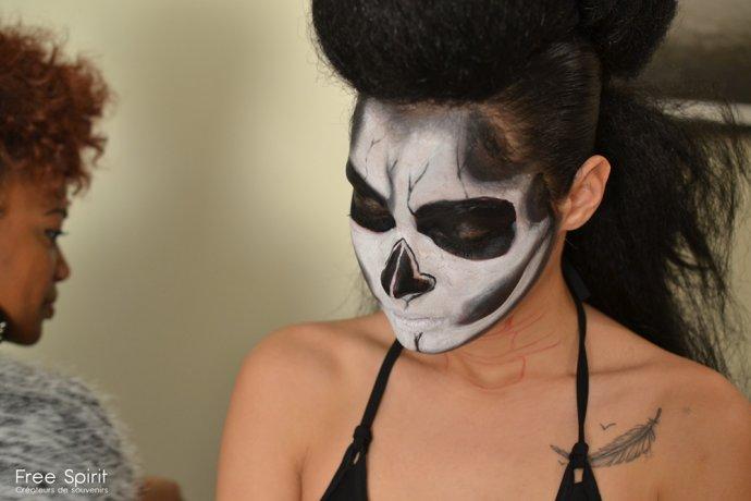 Free Spirit Blue Shadow Apokalypse project hairstyle facepainting Dark beauty tattoo