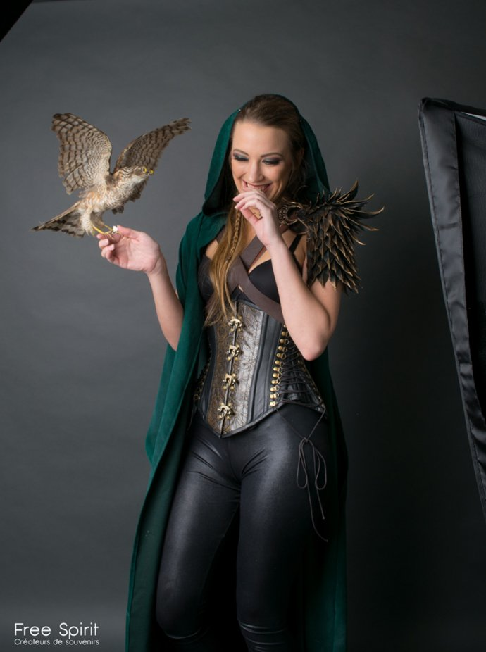 Free Spirit Blue Shadow Apokalypse project Dark photography leather corset epaulet Fairytas